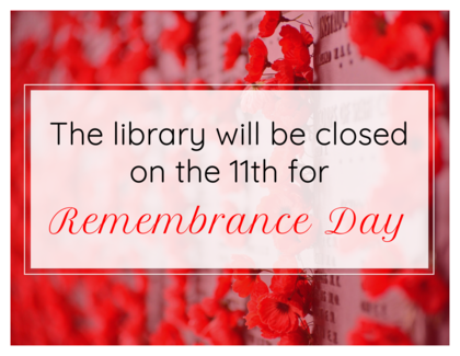 Closed for Remembrance Day 2020